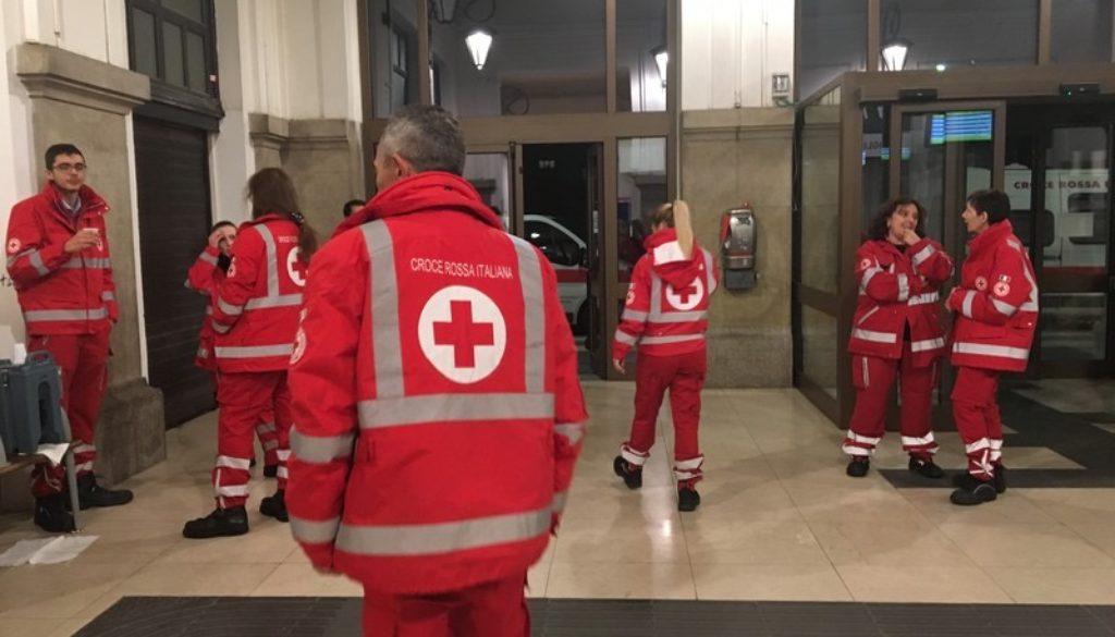 La Croce Rossa in stazione